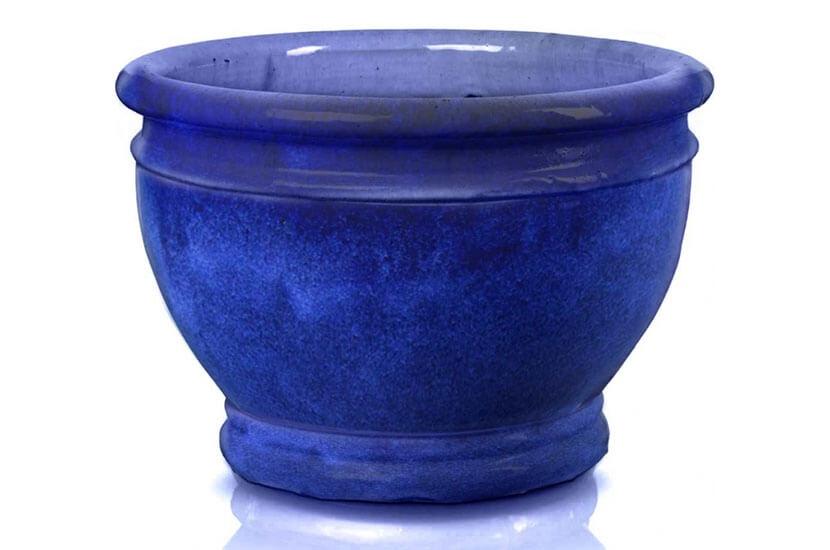 Donica ceramiczna Glazed Chalice 56 cm x 39 cm Kobalt