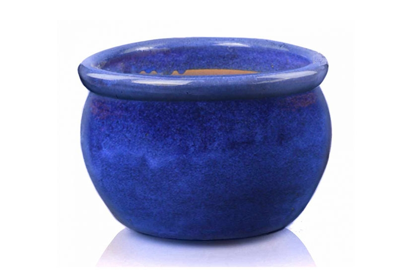 Donica   Round Pot Kobalt, średnica 38 cm; wysokość 25 cm