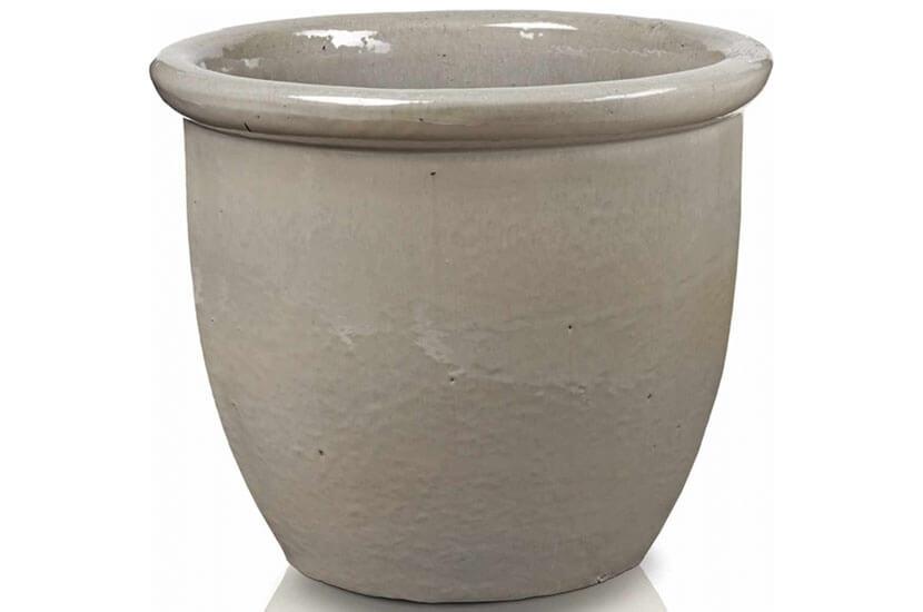 Donica ceramiczna Glazed 352 Pot - 40 cm x 32 cm Krem