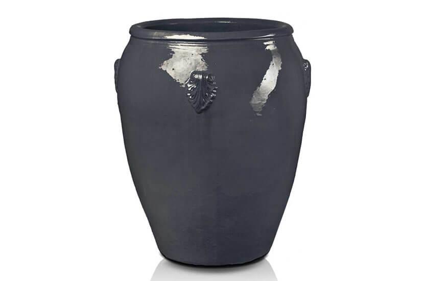 Donica ceramiczna Glazed Dzban duży 49 cm x 48 cm Grafit