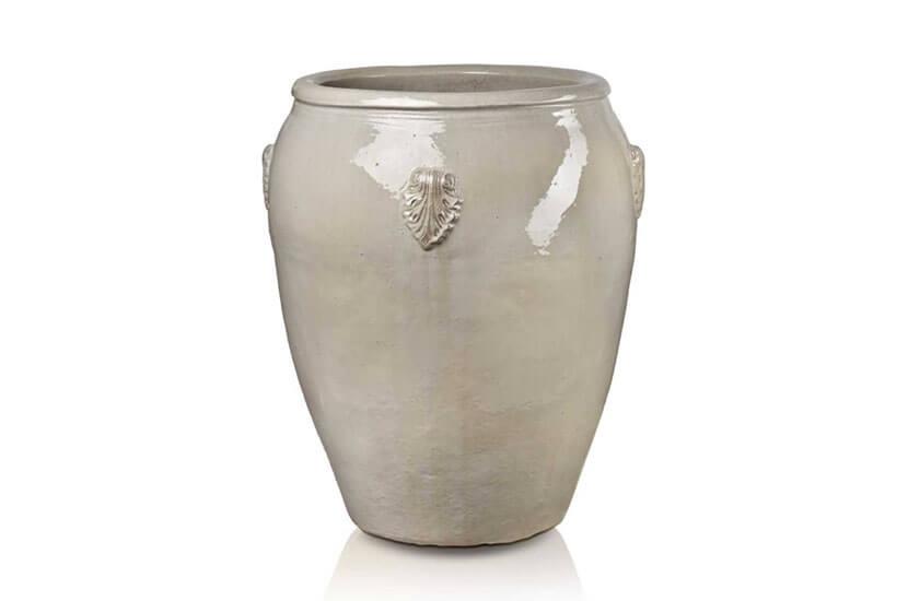 Donica ceramiczna Glazed Dzban duży 62 cm x 79 cm Krem