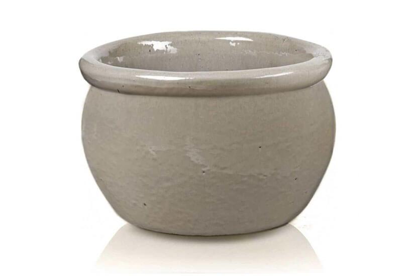 Donica Round Pot Krem; średnica 28 cm; wysokość 16 cm