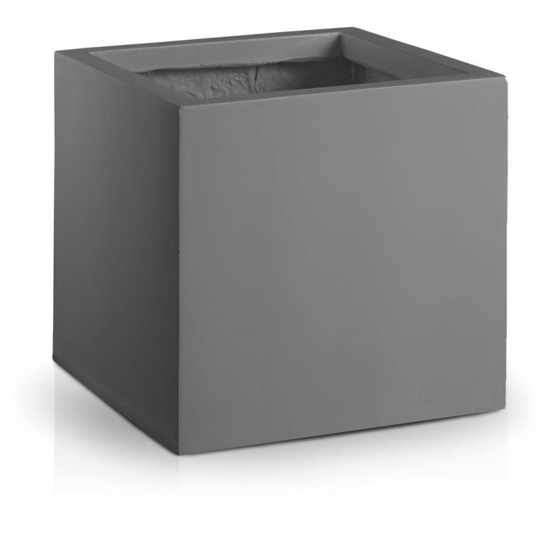 Donica Fiberglass high square graphite, średnica 50 cm, wysokość 50 cm