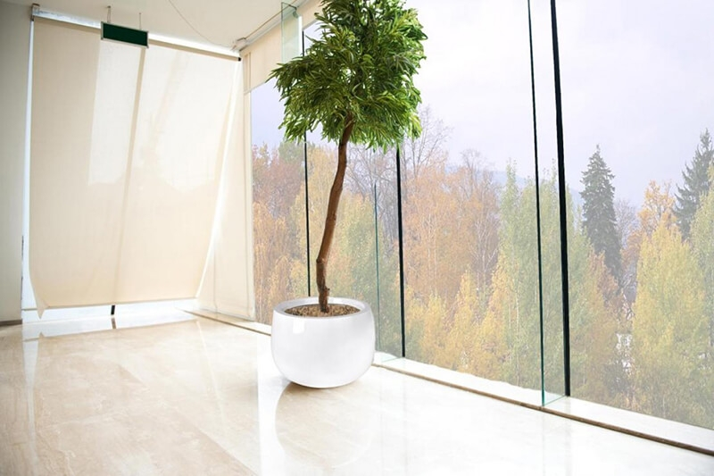 Donica Fiberglass  bowl - white, średnica 66 cm wysokość 44 cm,