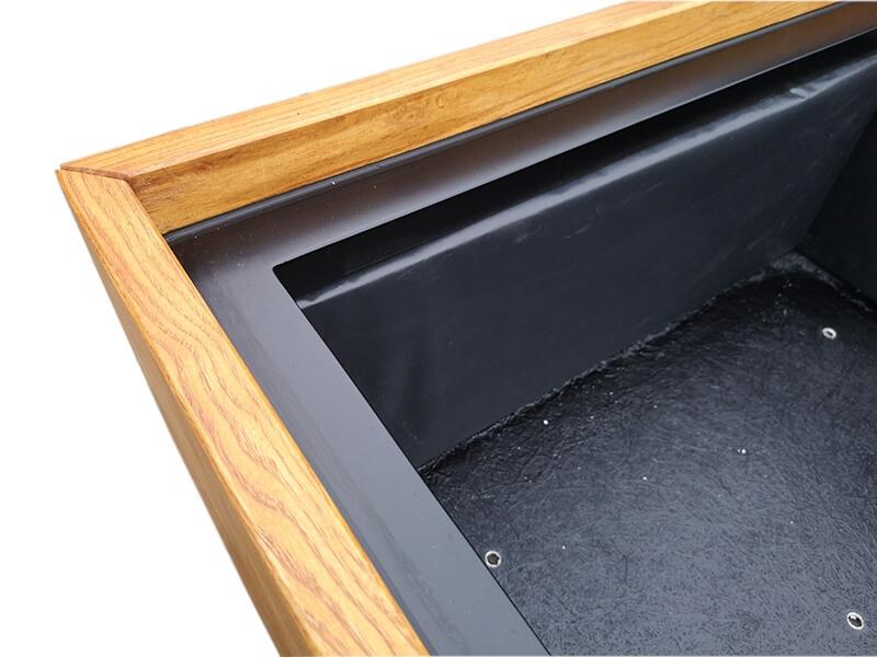 Ekskluzywna jesionowa donica Fiberglass 120x120x60 cm