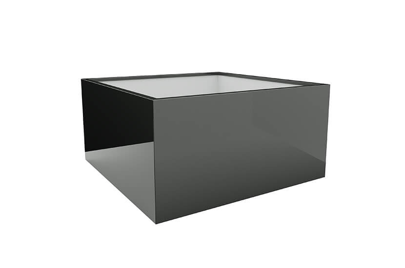 Donica mrozoodporna Fiberglass 100x100x80 cm
