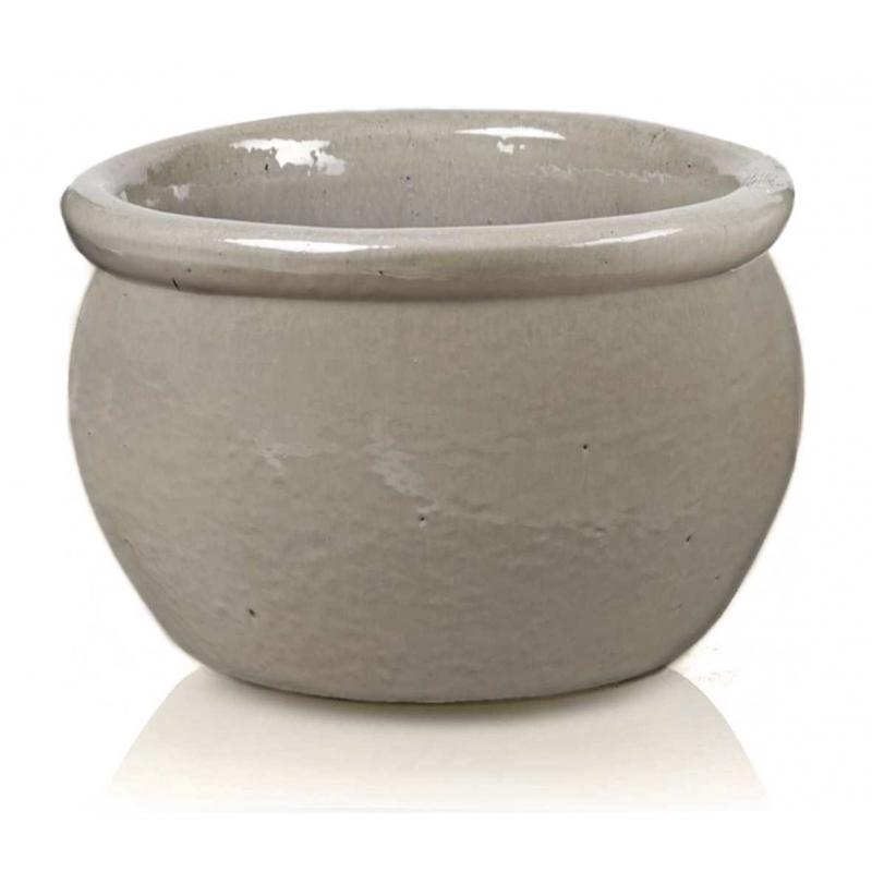 Donica ceramiczna Glazed Round-Pot 38 cm x 25 cm Krem