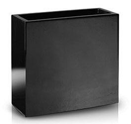 Donica Fiberglass high rectangle black, średnica 75 cm x 28 cm, wysokość 75 cm