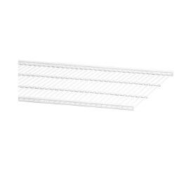 Półka ażurowa 40 kolor biały szerokość 450 mm, głębokość 405