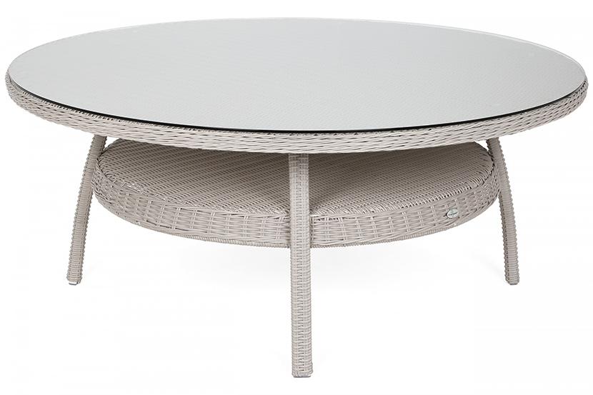 Meble ogrodowe technorattanowe Ikar Round 180 cm White / Grey 8+1