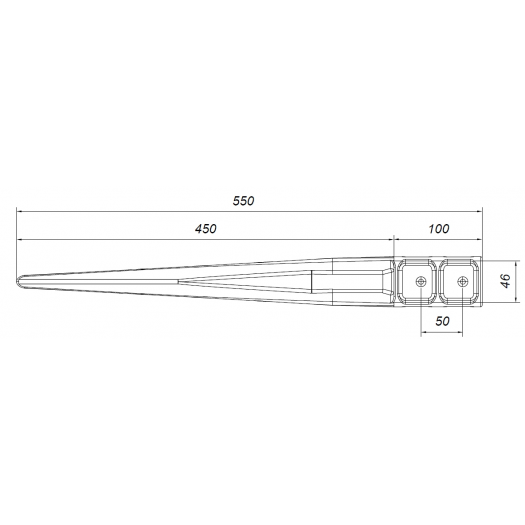 Kotwa stabilizacyjna 46x46 mm do domków drewnianych