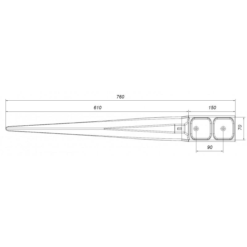 Kotwa stabilizacyjna 70x70 mm do domków drewnianych