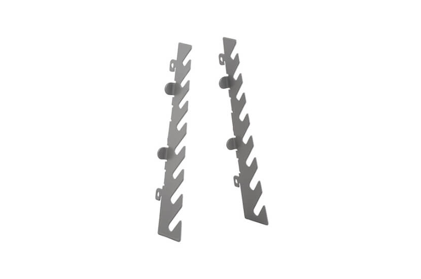 Wieszak na klucze do organizatora Elfa szary, na 8 sztuk kluczy