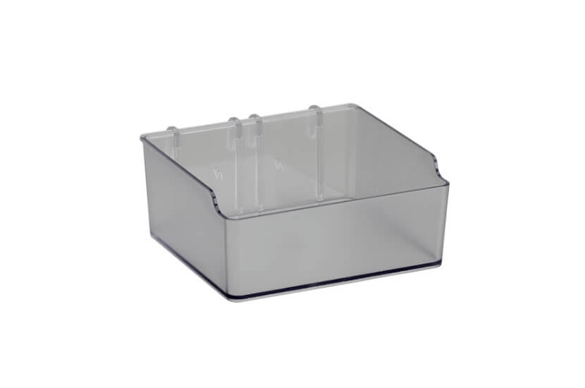 Pudełko niskie do organizatora Elfa transparentny - 48x110x112 mm