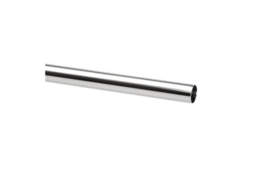 Drążęk chromowany Elfa srebrny - 25x25x1245 mm