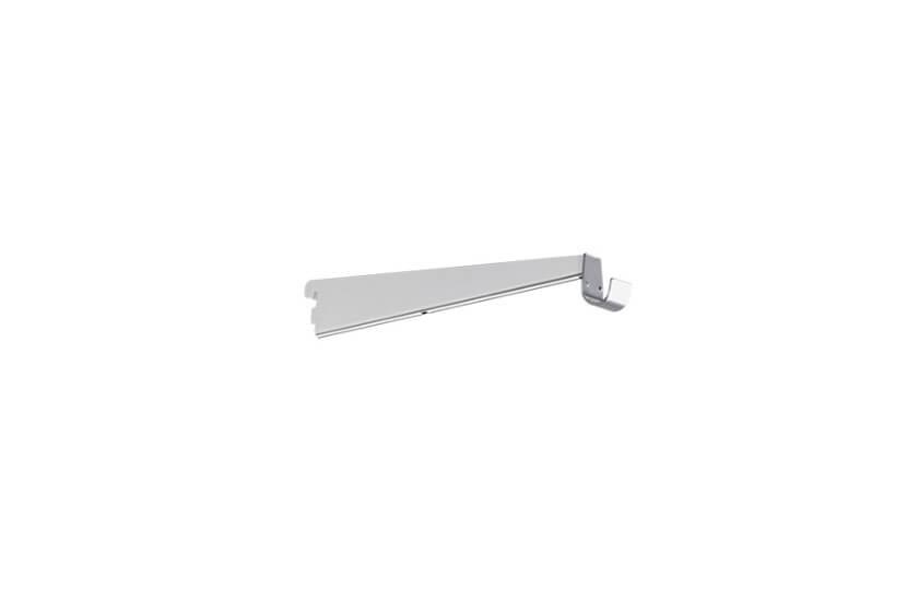 Wspornik półki obcej z z uchwytem do drążka, kolor biały - 55x13x320 mm Elfa