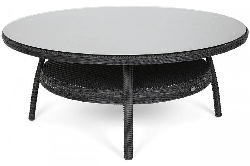 Meble ogrodowe technorattanowe Ikar Round 180 cm Grey / Grey Melange 8+1