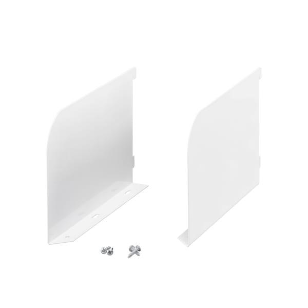 Zakończenie/wspornik półki | Biały 25x400x164 mm