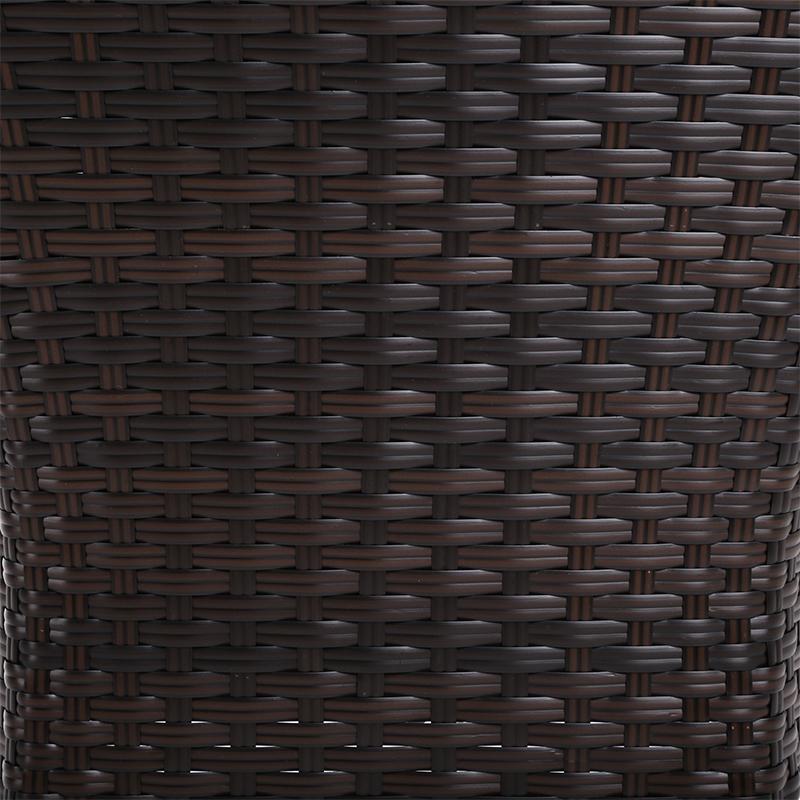 Fotel technorattanowy Flores Brown z poduszką