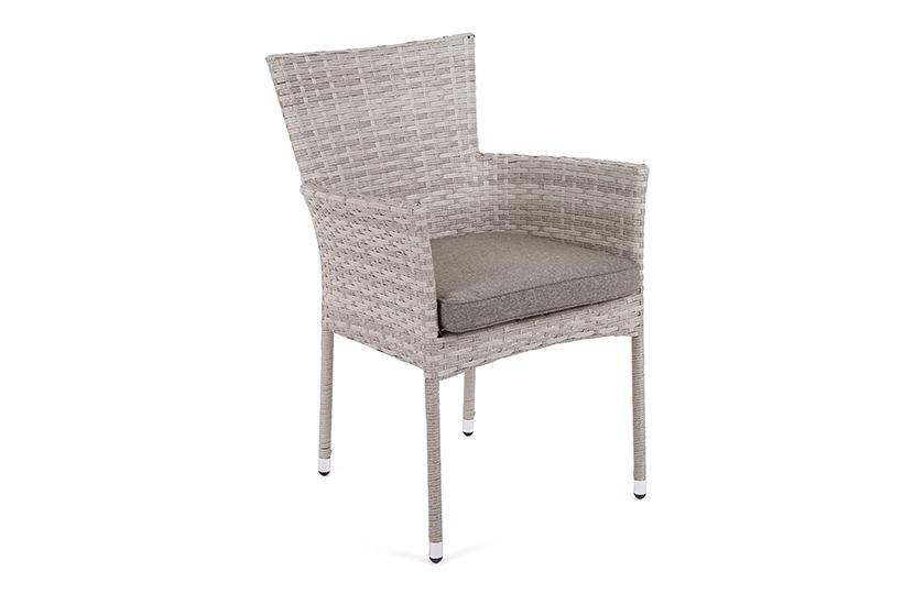 Fotel technorattanowy Flores Latte z poduszką