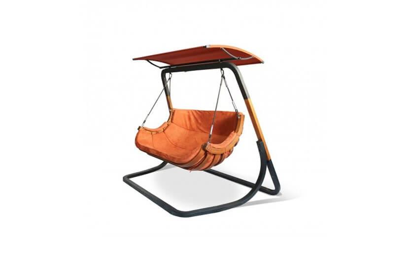 Podwójny Fotel Alpha z Daszkiem - Terracota