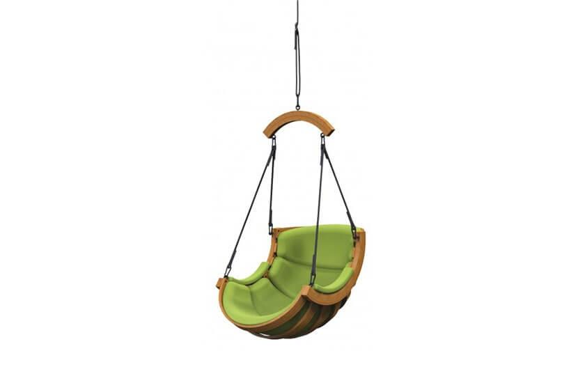 Fotel Alpha Wiszący Belka Zielony - bujak ogrodowy