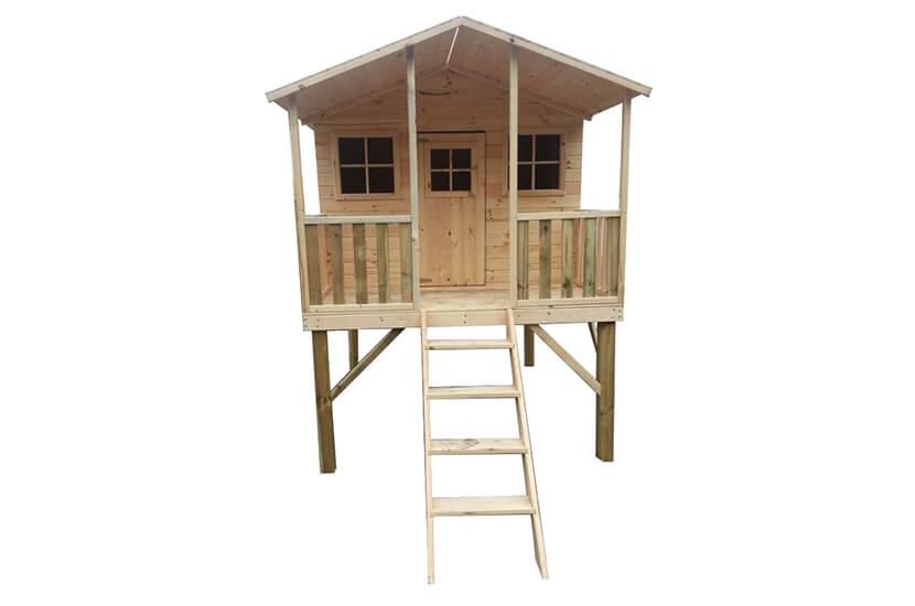 Drewniany domek ogrodowy dla dzieci - Grześ bez ślizgu