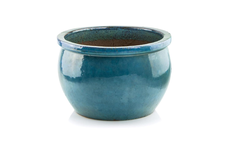 Komplet 3 doni ceramicznych Glazed Round-Pot