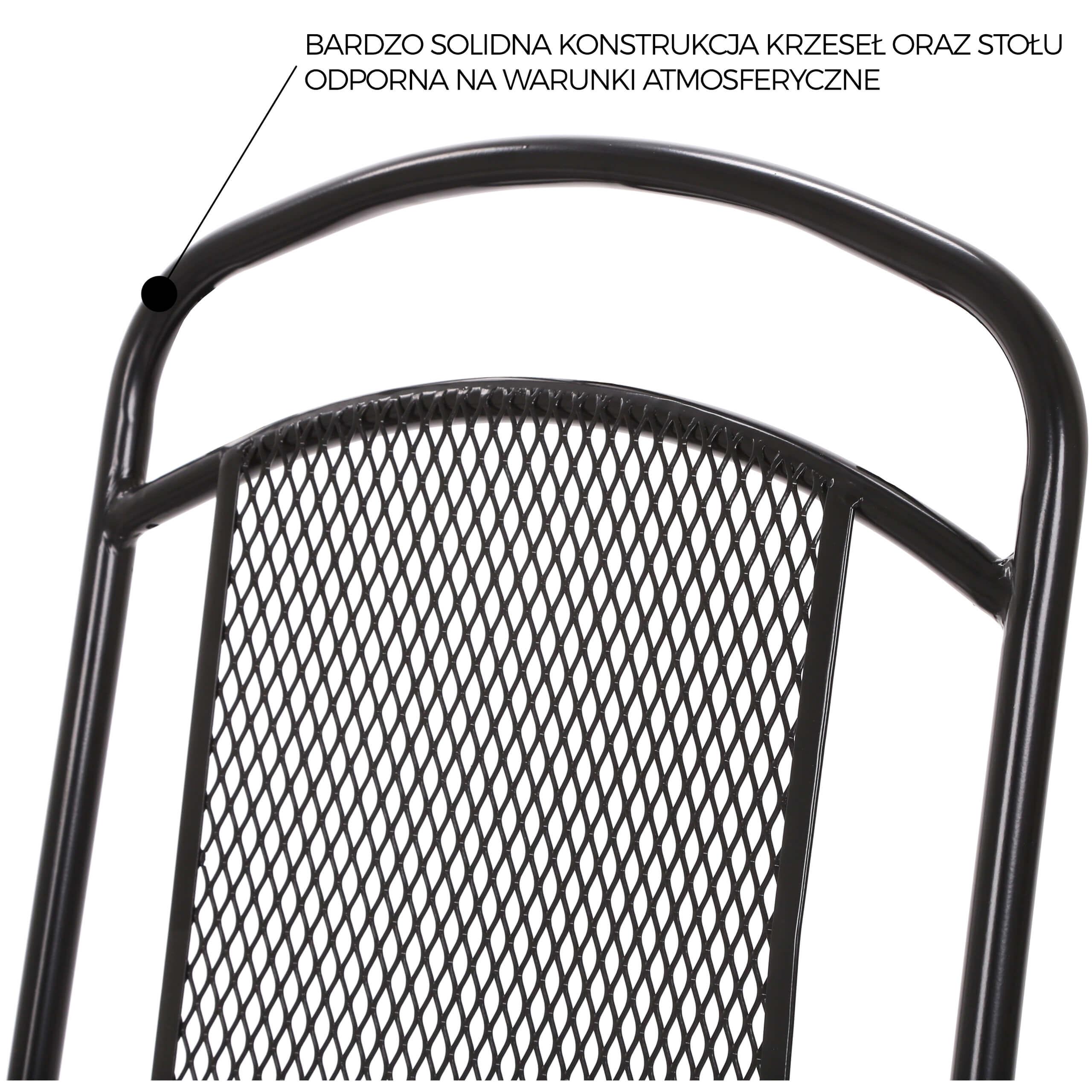 Krzesło ogrodowe metalowe Dico