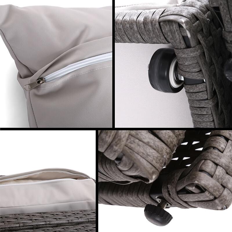 Sofa ogrodowa z baldachimem Acapulco Grey / Light Grey