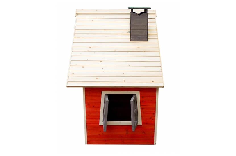 Malowany domek ogrodowy z drewna dla dzieci - Olek