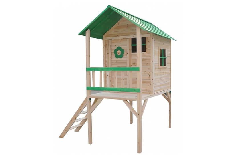 Malowany domek ogrodowy z drewna dla dzieci - Binka