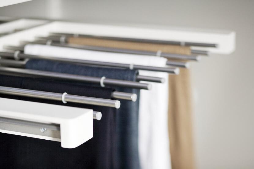 Wieszak na spodnie Elfa platinum - 25x430x605 mm