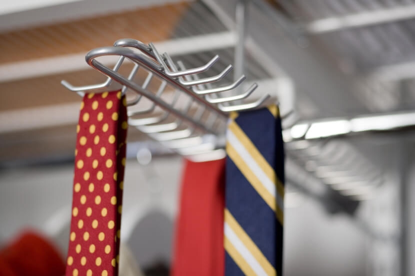 Wieszak na krawaty Elfa platinum/chrome - 143x395x120 mm