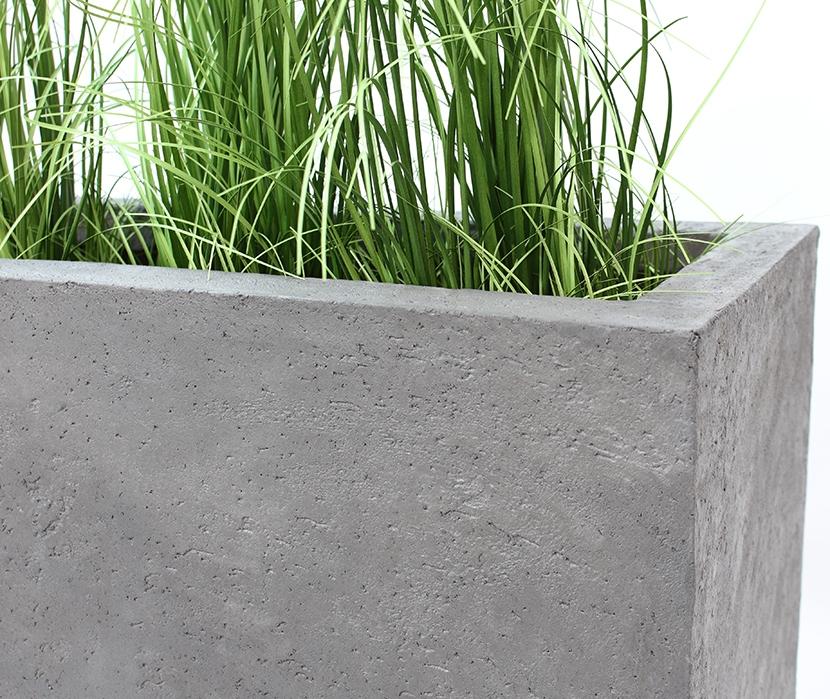 Donica mrozoodporna Fiberglass 60x55x28 cm struktura beton