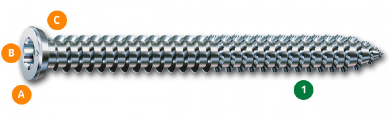 Nierdzewne wkręty SPAX D - 5 x 40 mm stal nierdzewna A2 - 200szt.