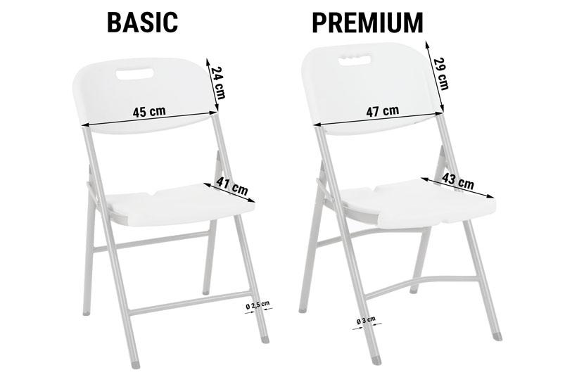 Krzesło cateringowe składane premium