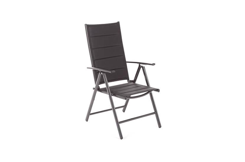 Krzesło ogrodowe aluminiowe Safari black/black