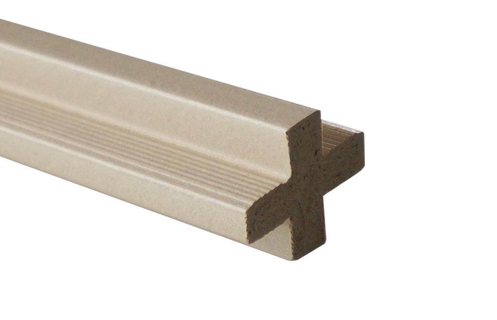 Łącznik krzyżakowy - beż 2400x22x22 mm