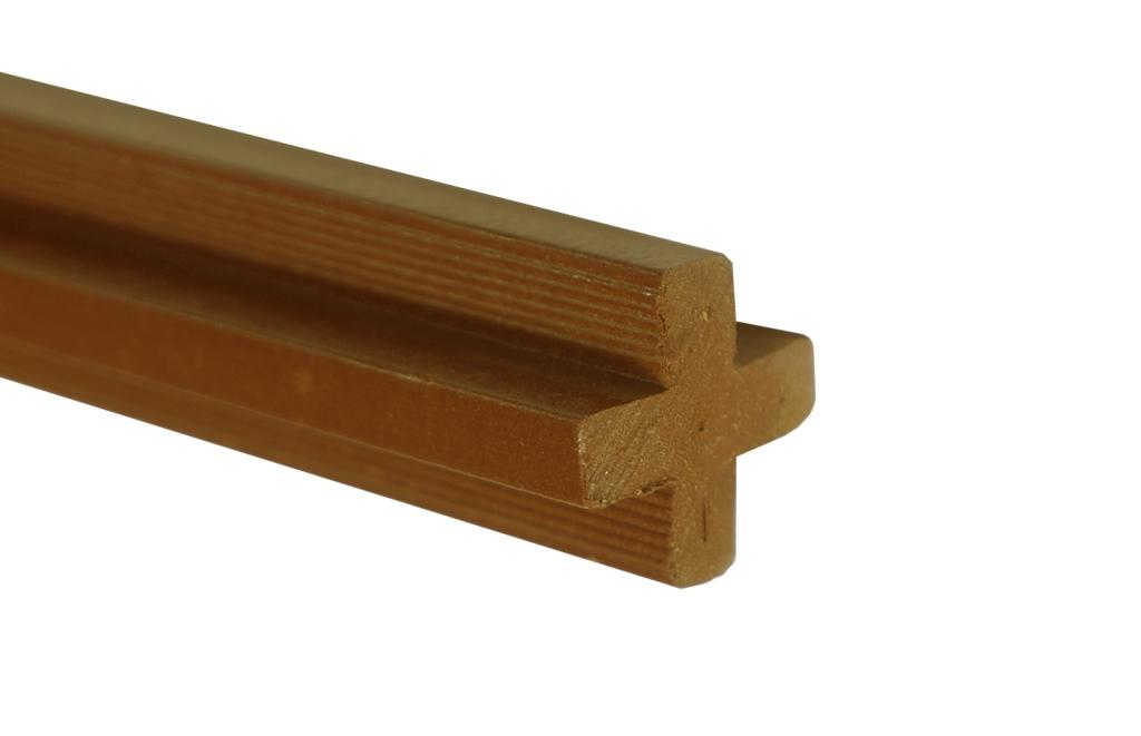 Łącznik krzyżakowy - dąb brąz 2400x22x22 mm