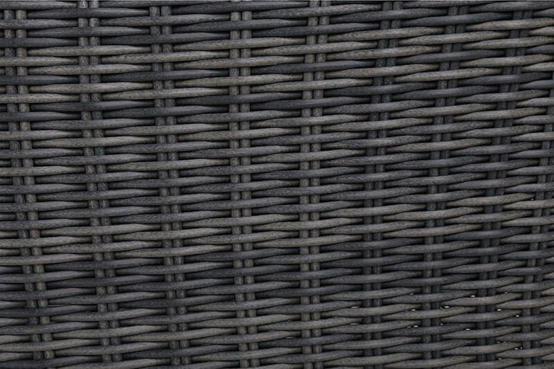Meble ogrodowe technorattanowe Ikar 180 cm Grey / Grey 6+1