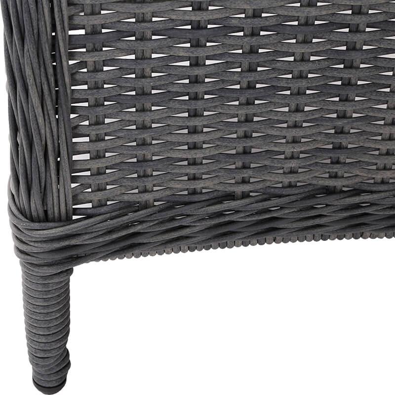 Meble ogrodowe technorattanowe Ikar 230 cm Grey / Grey 8+1