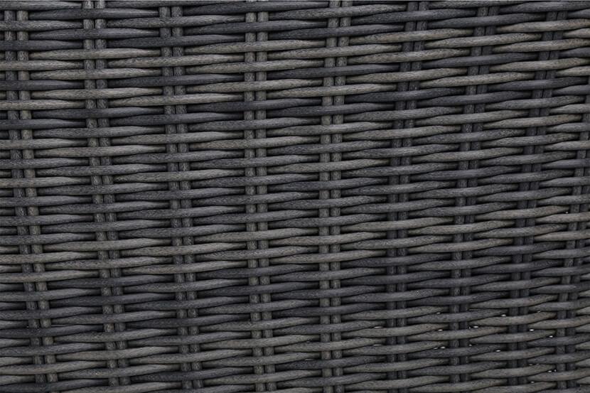Meble ogrodowe technorattanowe Ikar Alu 220 cm Grey / Grey 8+1