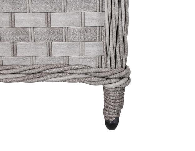 Meble ogrodowe technorattanowe Togo Light Grey / Grey