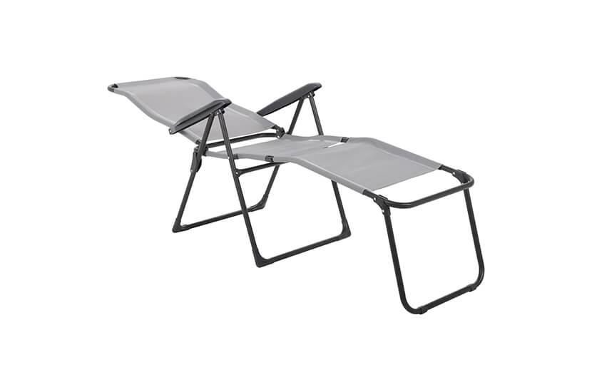 Leżak ogrodowy Ventura Grey ze stolikiem