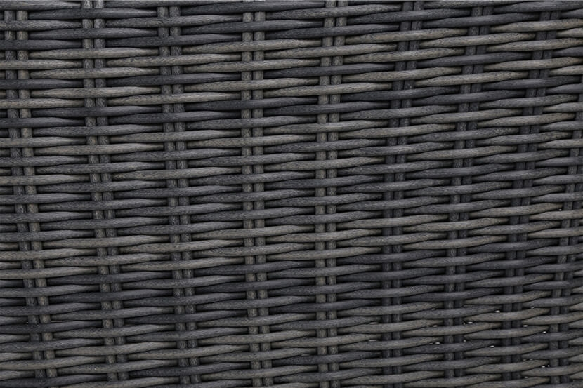 Meble ogrodowe technorattanowe Ikar Square Grey / Grey Melange 4+1