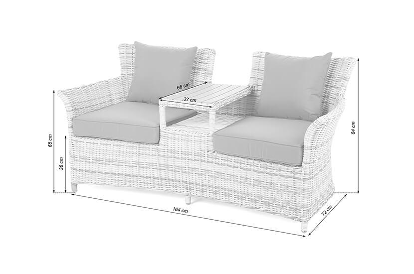 Sofa ogrodowa Majorka Grey / Grey