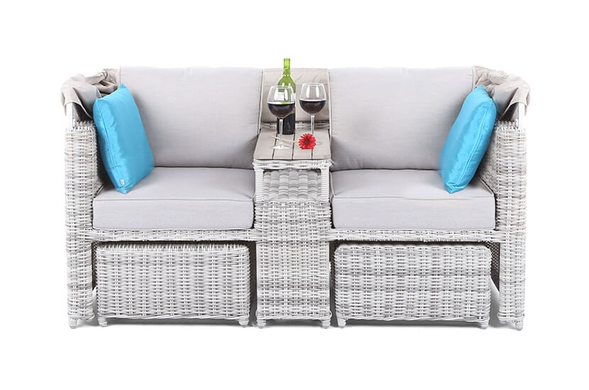 Sofa ogrodowa z baldachimem Michigan Light Grey / Light Grey