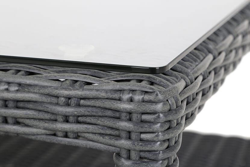 Narożnik ogrodowy technorattanowy Andros grey/grey