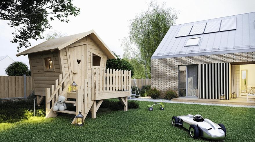 Drewniany domek dla dzieci Małgosia
